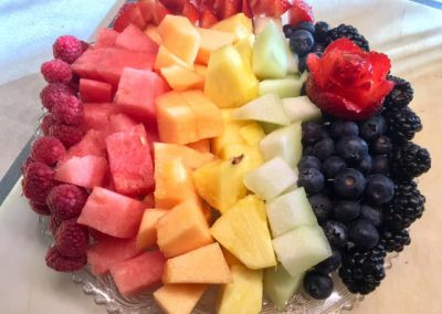 Fruit Rainbow with all breakfasts!
