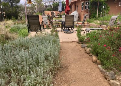 Pathway to Lower Hummingbird Patio